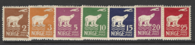 SG 167-73, Mounted Mint, Norway Stamps