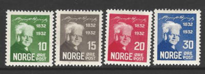 SG 227-30, Mounted Mint, Norway Stamps