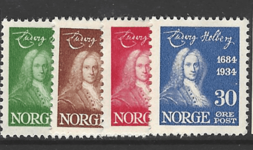 SG 231-4, Mounted Mint, Norway Stamp