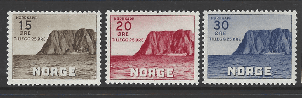 SG 349-51, Unmounted Mint, Norway Stamps