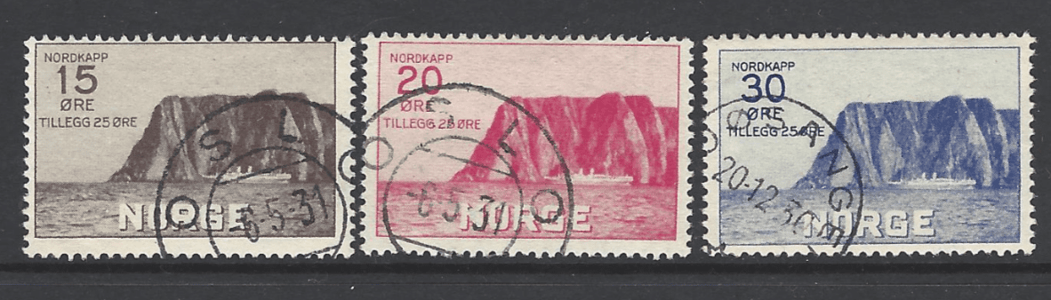 SG 223-225, Norway Stamps