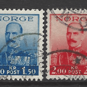 SG 255-258, Norway Stamps
