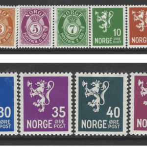 SG 239-53, Mounted Mint, Norway Stamps