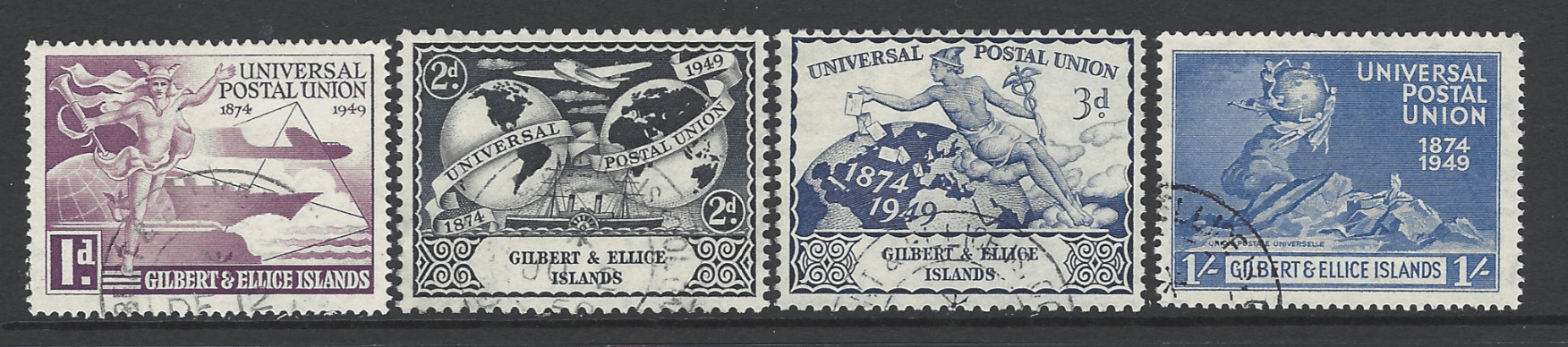 SG 59-62, Gilbert and Ellice Islands Stamps