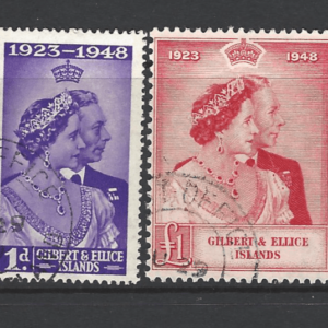 SG 57-58, Gilbert and Ellice Islands Stamps