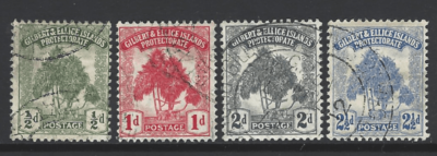 SG 8-11, Gilbert and Ellice Islands Stamps