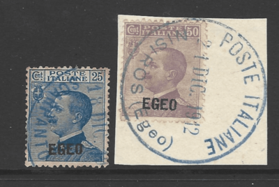SG Dodecanese 1-2, Italian Colonies Stamps