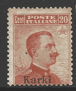 Dodecanese: Karki SG 9D, Italian Colonies Stamps