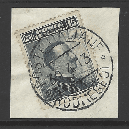 Dodecanese: Rodi SG 6J on Piece, Italian Colonies Stamps