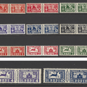 SG Dodecanese P137-147. Mounted Mint. Some Gum Toning. Italian Colonies Stamps