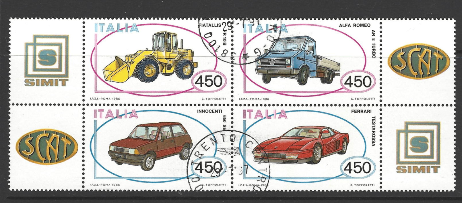 SG 1933a, Italy Stamps, Car Stamps, Transport Stamps