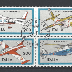 SG 1715a, Italy Stamps, Transport Stamps, Aeroplane Stamps