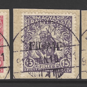 SG 24-26, Each on Piece, Fiume Stamps