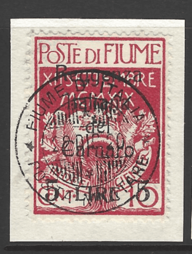 SG 161 on piece, Fiume Stamps