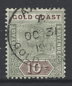SG 34, Gold Coast Stamps