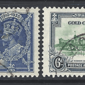 SG 113-116, Gold Coast Stamps