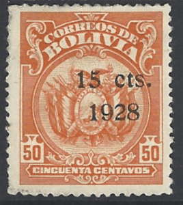 SG 215, Mounted Mint, No Gum, Bolivia Stamps