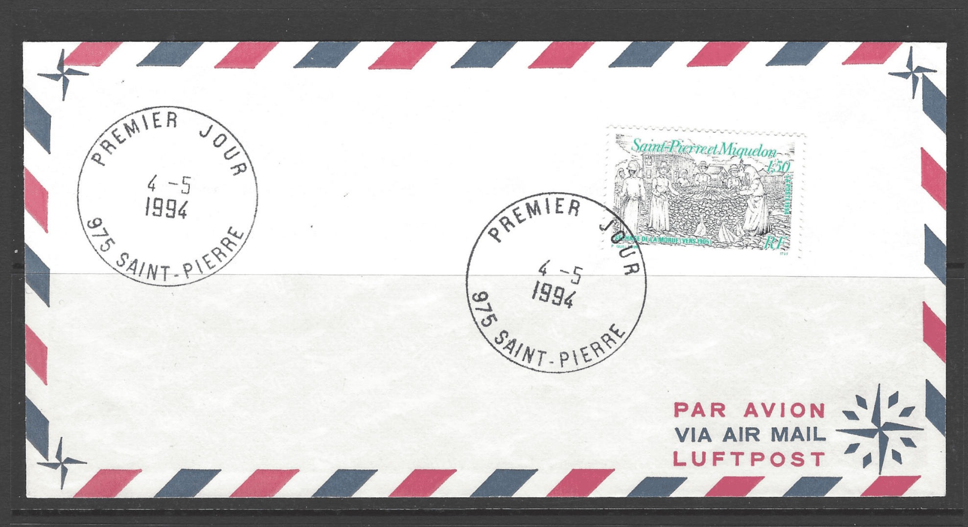 SG 712 on first day cover, St Pierre et Miquelon Stamps