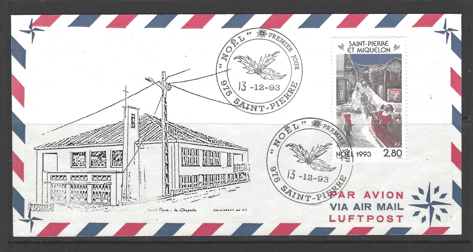 SG 708, on first day cover, St Pierre et Miquelon StampsSG 708, on first day cover, St Pierre et Miquelon Stamps