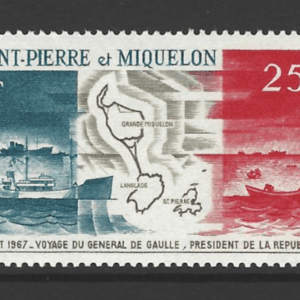 SG 442, Unmounted Mint, St Pierre et Miquelon Stamps