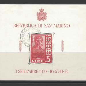 SG MS 232b, San Marino Mini Sheet Stamps