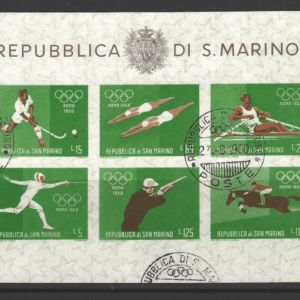 SG MS 616c, San Marino Mini Sheets Stamps