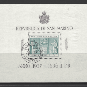 SG MS 232, San Marino Mini Sheet Stamps