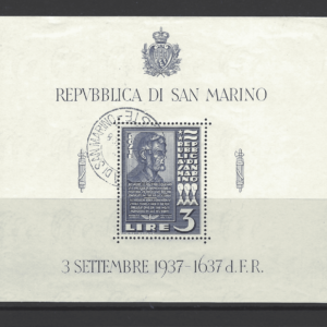 SG MS 232a, San Marino Mini Sheet Stamps