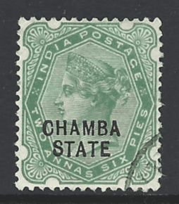 Chamba SG 7, India States Stamps