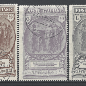 SG 152-4. Italy Stamps