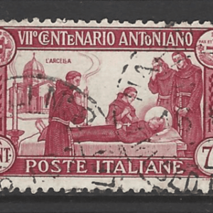 SG 308a. Perf 12. Italy Stamps