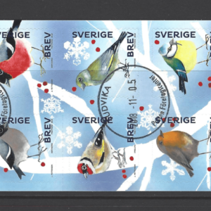 SG New Issue- Christmas Birds. Sweden Stamps