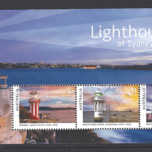 SG New Issue- Lighthouses. Australia Stamps