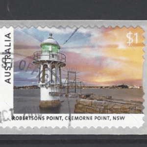 SG New Issue- Lighthouses, self adhesive strip of 3. Australia Stamps