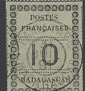 SG 10. French Pos in Madagascar. French Colonies Stamps