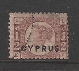 SG 1. Plate 15.. Cyprus Stamps