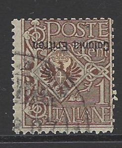 Eritrea SG 19a. inverted Overprint. Italian Colonies Stamps