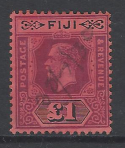 SG 137a. Die 2. Pen cancel. Fiji Stamps