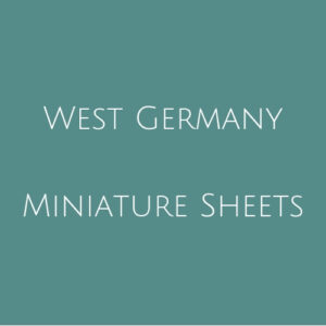 Germany West- Miniature Sheets