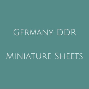 Germany DDR- Miniature Sheets