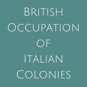 British Occupation of Italian Colonies fine Used Stamps