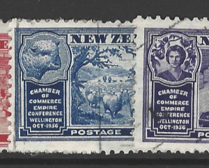 SG 593-7. New Zealand Stamps