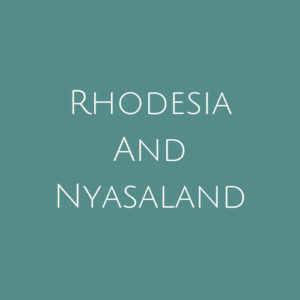 Rhodesia and Nyasaland fine Used Stamps