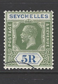 SG 123. Cancelled to Order. Seychelles Stamp