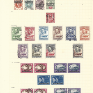 Bechuanaland. 1897-1902 QV Stamps. Plus 1938-45 KG6 Issues.