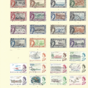 Bahamas 1954-65 two used definitive sets. Just missing one value.