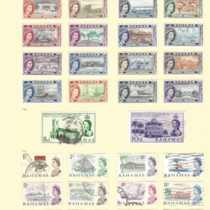Bahamas 1954-67 including mint definitive set and used issues.