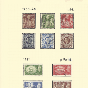 Great Britain. The two high value sets from the KG6 period.