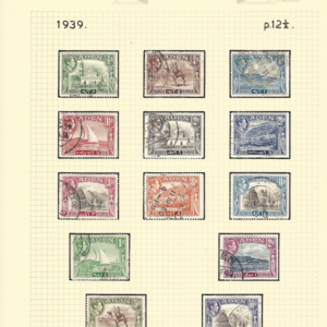Aden. 1939-48 Fine Used definitive set of KG6 issues