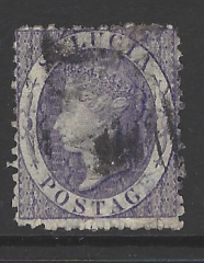 SG 13w, inverted watermark. St Lucia Stamp